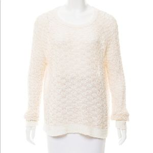 Ivory Theyskens' Theory textured open knit sweater